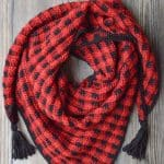 Crochet Plaid Triangle Scarf – Free Crochet Pattern