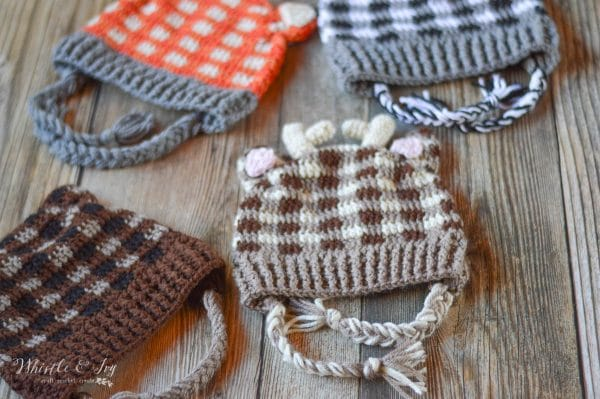 Plaid Woodland Animal Hats - Whistle and Ivy