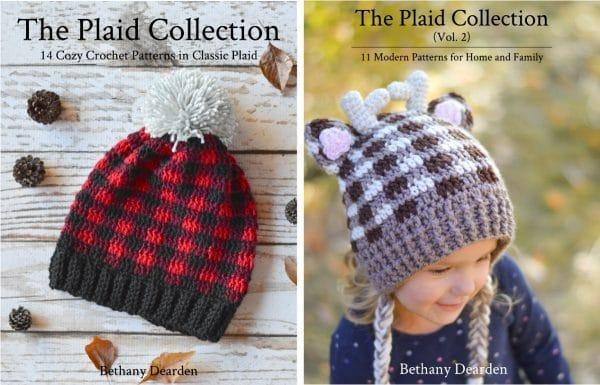 bundle two ebooks crochet plaid collection patterns