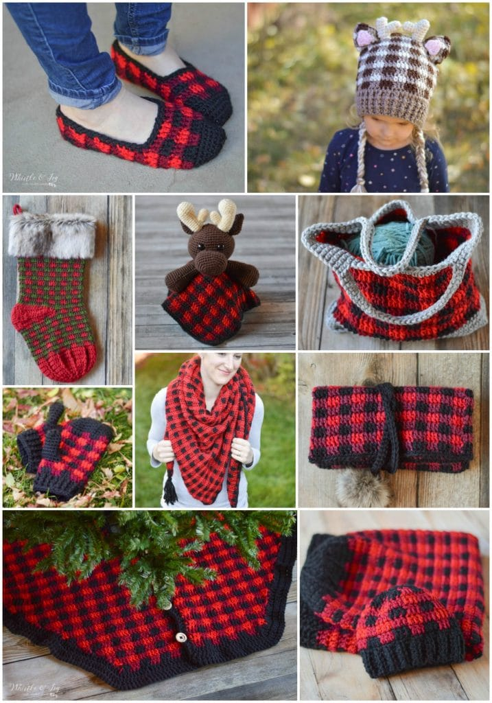 pattern library of buffalo plaid crochet patterns
