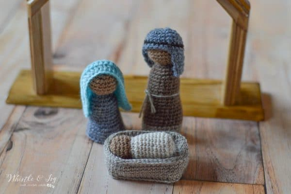holy family nativity set free crochet pattern rustic decor