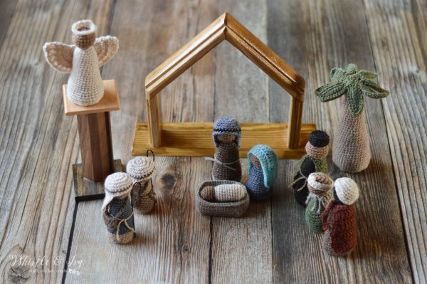 rustic crochet set free crochet pattern nativity set