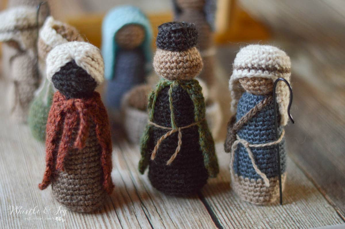 Rustic Nativity CAL - Standing Wise Men - Whistle and Ivy