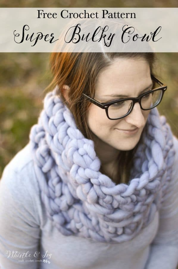 Super Bulky Crochet Cowl Whistle And Ivy