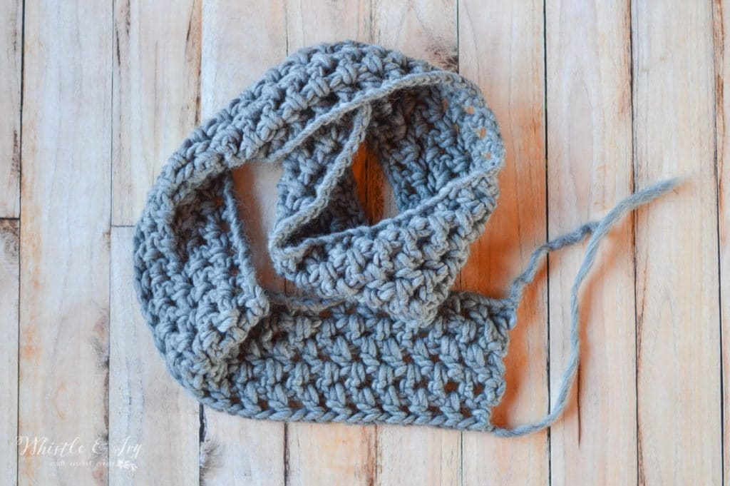 fast crochet scarf with bulky chunky yarn