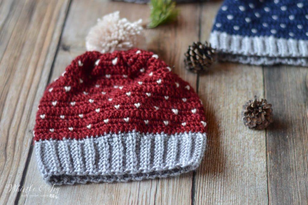 faux knit crochet hat free crochet pattern