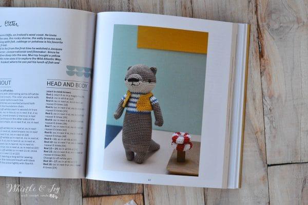 crochet book featuring a cute crochet otter