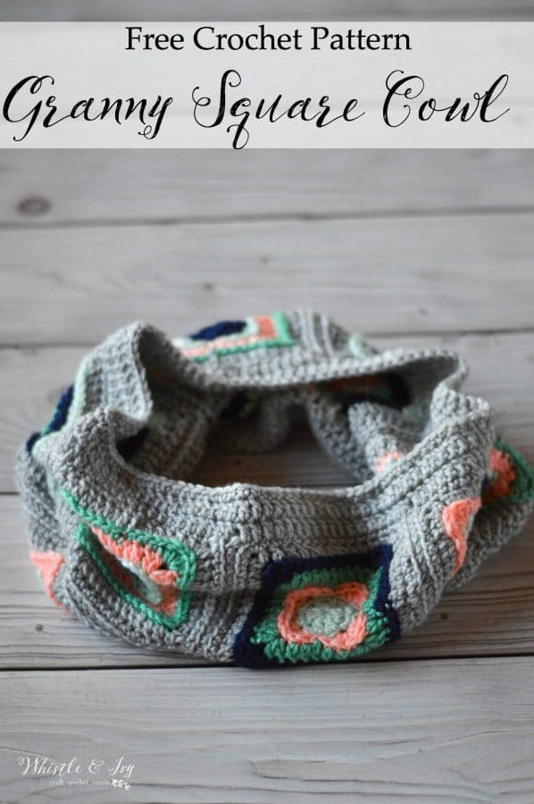 Crochet Granny Square Cowl Pattern Whistle And Ivy