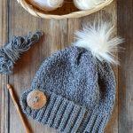 Snow Bunny Crochet Hat – Free Crochet Pattern