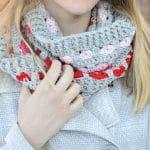 Puppy Love Crochet Infinity Scarf Pattern – Free Crochet Pattern