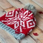 Chinook Toque (Team Canada Toque) – Free Crochet Pattern