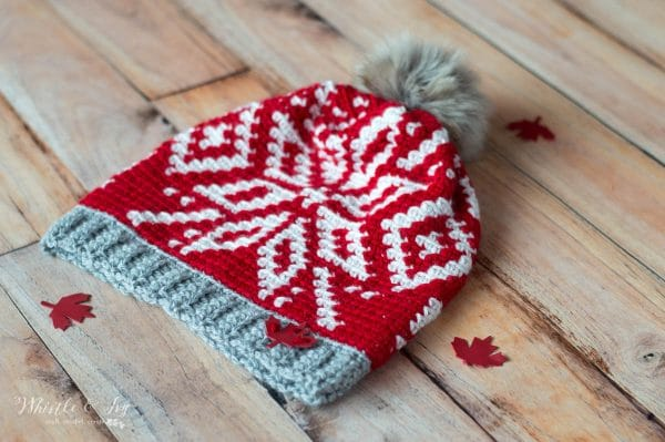 red and white team canada toque hat for olympics