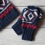 Fair Isle Neva Mittens – Free Crochet Pattern