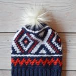 Crochet Neva Hat ( Crochet Olympics Team Hat)