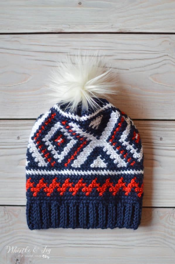 Crochet Chevron Hat Free Crochet Pattern Whistle And Ivy