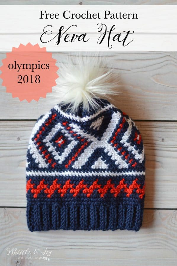 Crochet Neva Hat Crochet Olympics Team Hat Whistle And Ivy