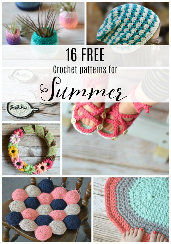 collage of summer crochet ideas