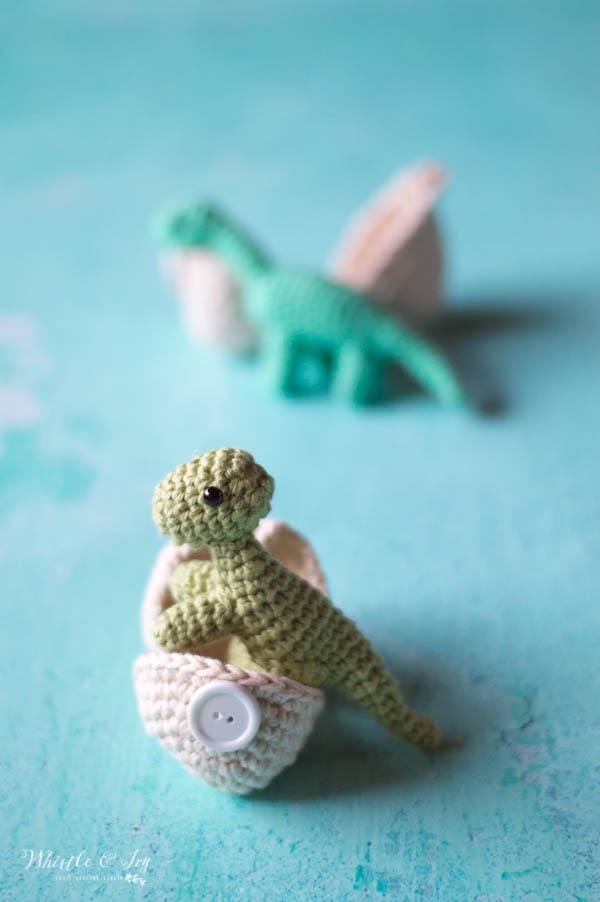Crochet Hatching Dinosaurs Whistle And Ivy