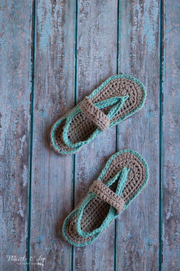 db0a128014655 Crochet Baby Strap Flip Flop Sandals - Whistle and Ivy