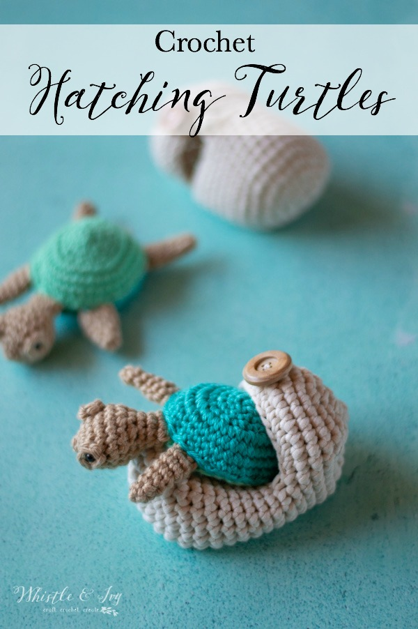 crochet hatching sea turtles