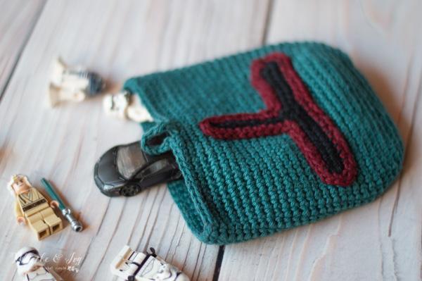 Star Wars crochet boba fett pouch free crochet pattern