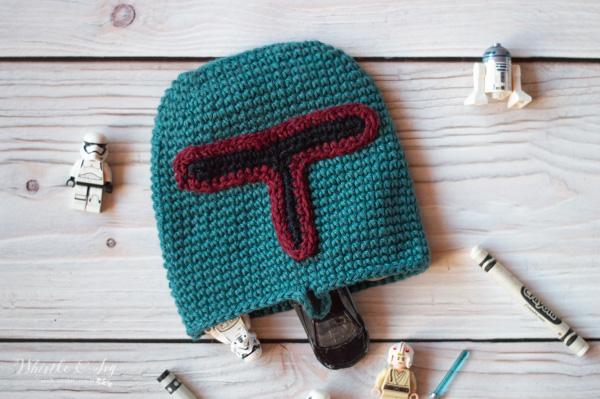 crochet boba fett pouch Star Wars crochet