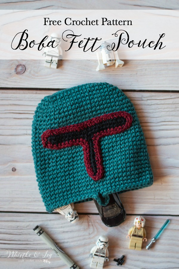 Crochet Boba Fett Pouch Free Crochet Pattern Whistle And Ivy