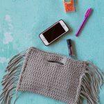 Crochet Fringe Clutch – Free Crochet Pattern