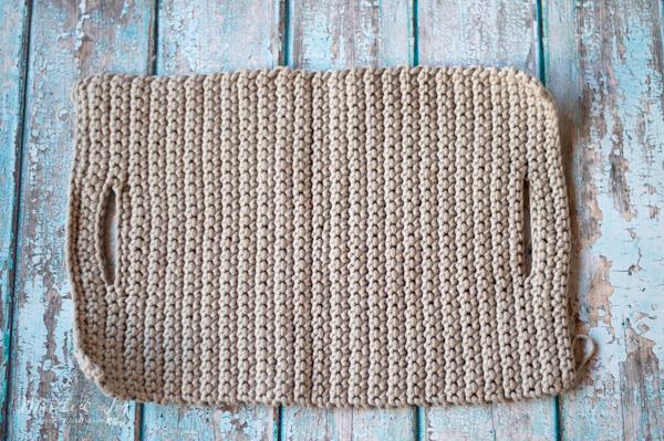 crochet fringe clutch flat
