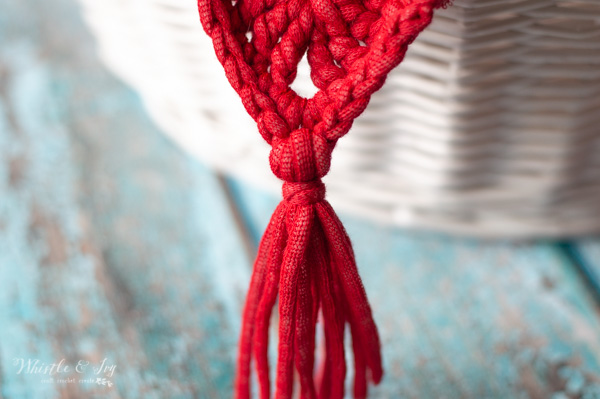 how to add tassels to crochet bunting