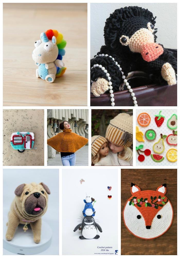e83717949bd Corki the Unicorn – Crochet Pug – Camping Appliqué Set (Owl