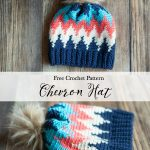 Crochet Chevron Hat – Free Crochet Pattern