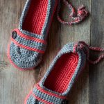 Ankle Tie Crochet Slippers Pattern