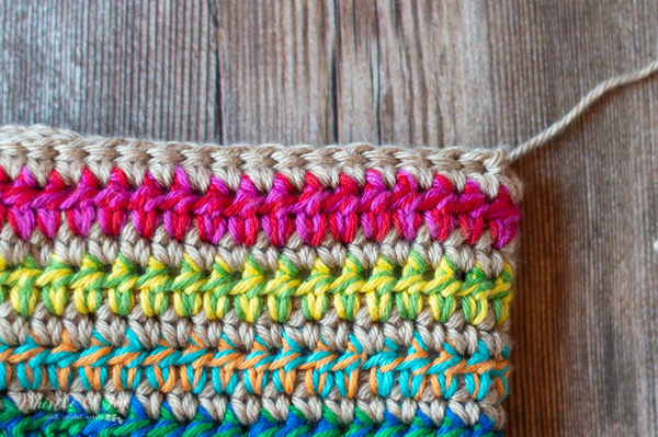 slip stitch edging crochet clutch