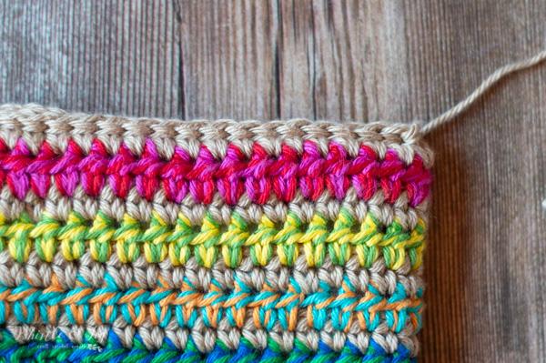 slip stitch edging crochet clutch