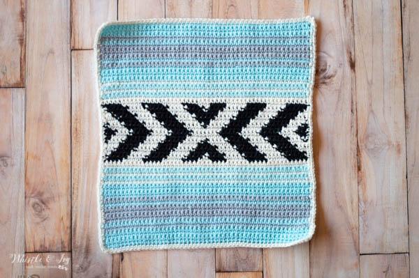 crochet serape blanket for baby lovey