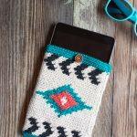 Southwest Style Crochet Tablet Pouch – Free Crochet Pattern