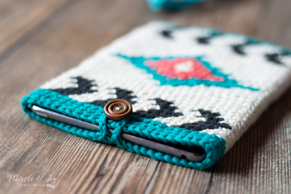 southwest style crochet free pattern tablet case