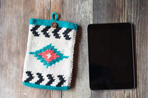 crochet tablet case southwestern style free pattern