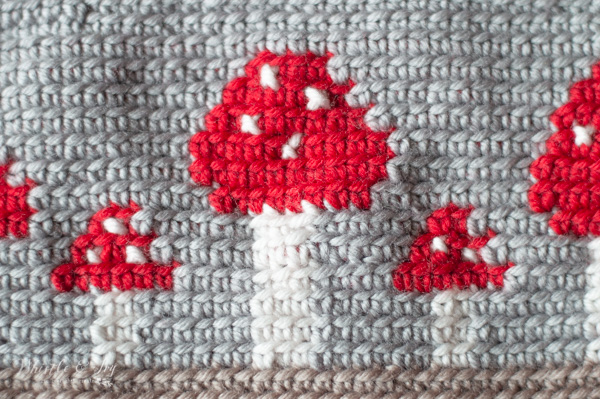 cross-stitch on crochet