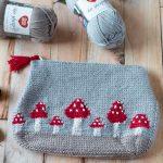 Crochet Mushroom Pouch – Free Crochet Pattern