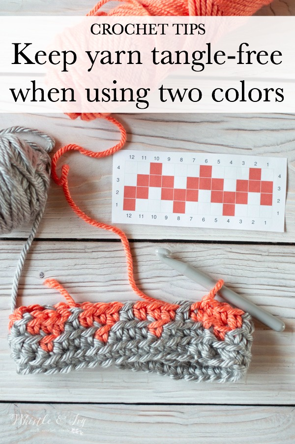 how to keep yarn from getting tangled when working with two yarns