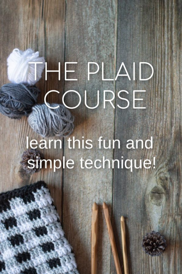 how to crochet plaid with these video lessons