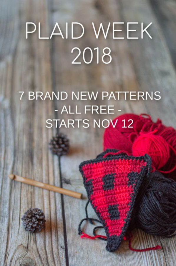 crochet plaid a week long of free crochet pattern