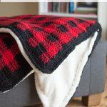 Crochet Buffalo Plaid Blanket – Free Crochet Pattern