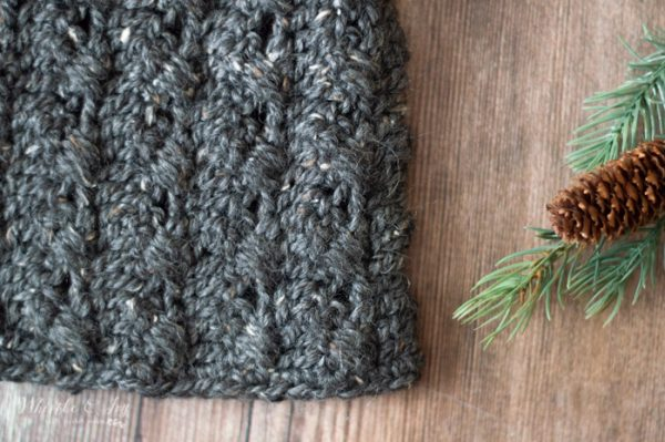 textured cable crochet hat pattern