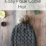 Cobblestone Hat – Faux Crochet Cables Hat –  Free Crochet Pattern
