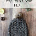 Cobblestone Hat – Faux Crochet Cables Hat –  Free Crochet Pattern