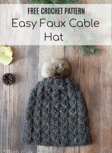0f6726803b9 Cobblestone Hat – Faux Crochet Cables Hat – Free Crochet Pattern