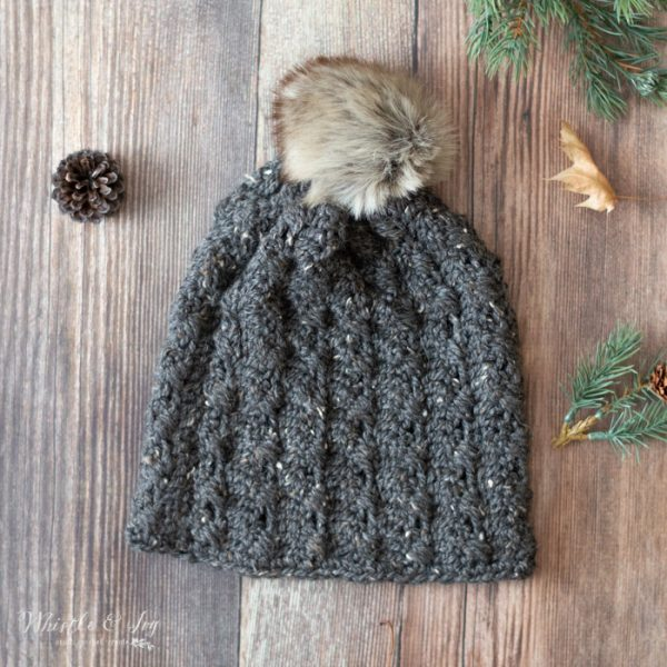 fall hat crochet cable slouchy hat free crochet pattern
